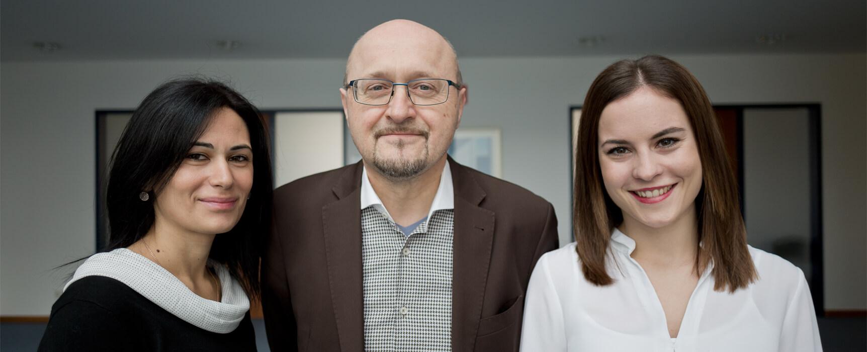 Das Team von AC assistenza & consulting - Marie-Christine Lindl, Roberto Tissino,  Federica Febbraio / il team di AC